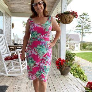 Tommy Bahama cotton blend knit midi dress